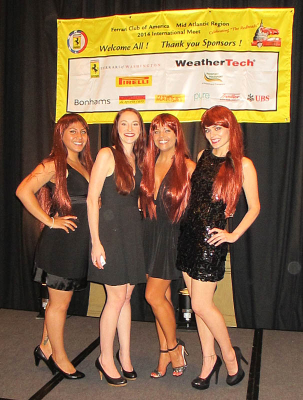 "Beauté Redheads Promote the Ferrari Testarossa at a   ""Celebrate the Redheads"" Special Event for the Ferrari Club of America."