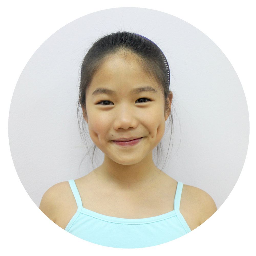 Emma Sung   - I started learning ballet with Ms Mayu at school and got very interested. I am so excited, learning so many things, new steps, making friends, love dancing with my friends. Also I like to challenge myself through new steps.