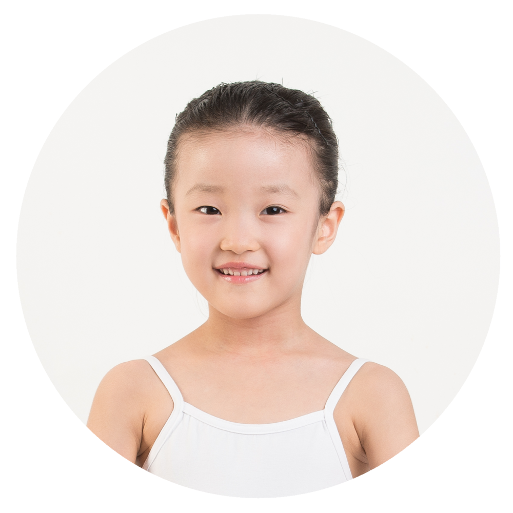 Yuriko Shobayashi - I love ballet! I like my teacher because she teaches us a lot of things. My favorite exercises are port de bras and sautes!