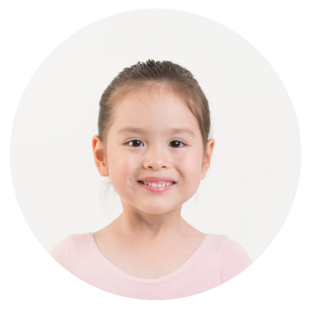 Katie Bovaird  - I love ballet because I enjoy dancing with music! Especially when I gallop with my friends and teacher, I feel excited!
