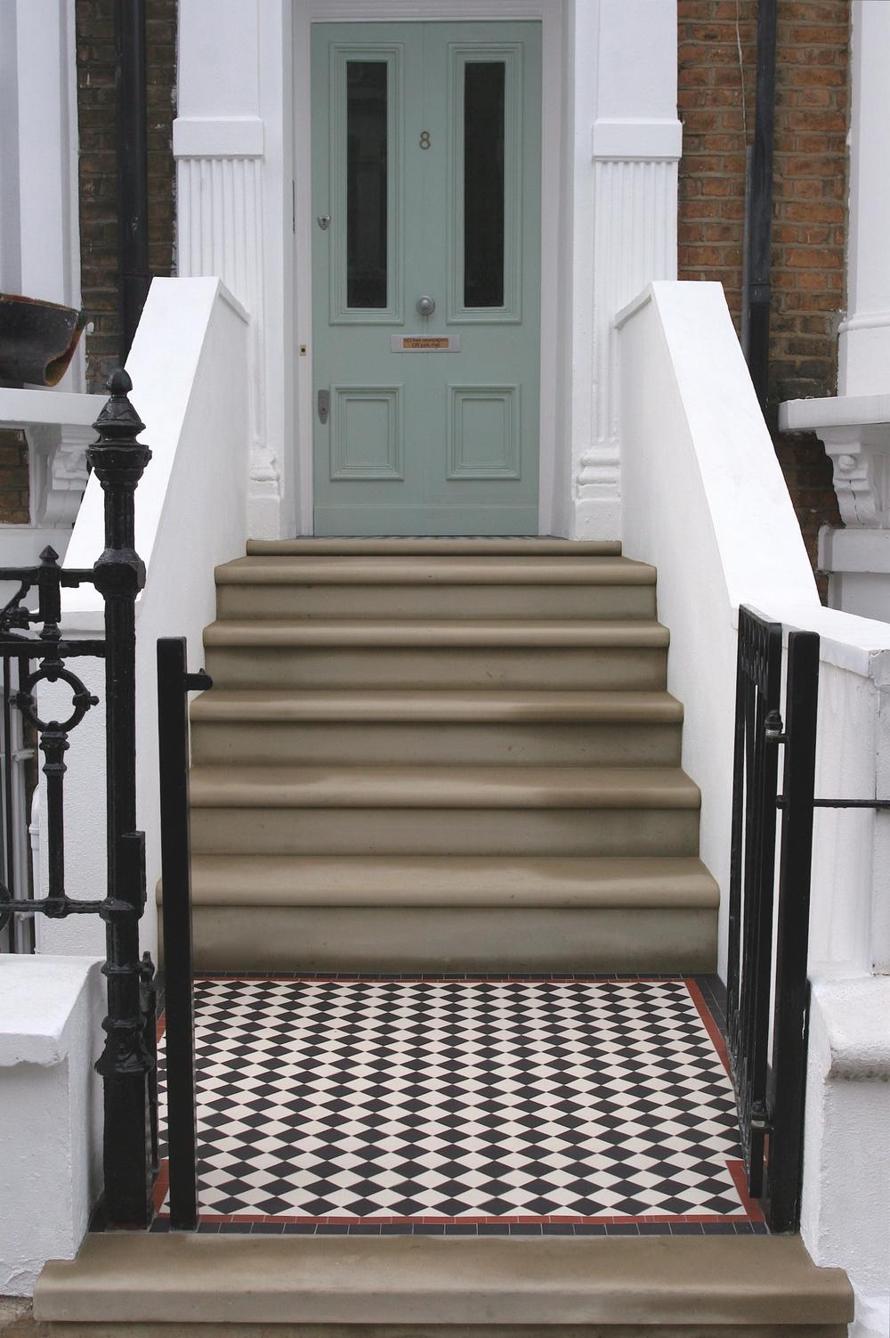 victorian mosaic path tiles