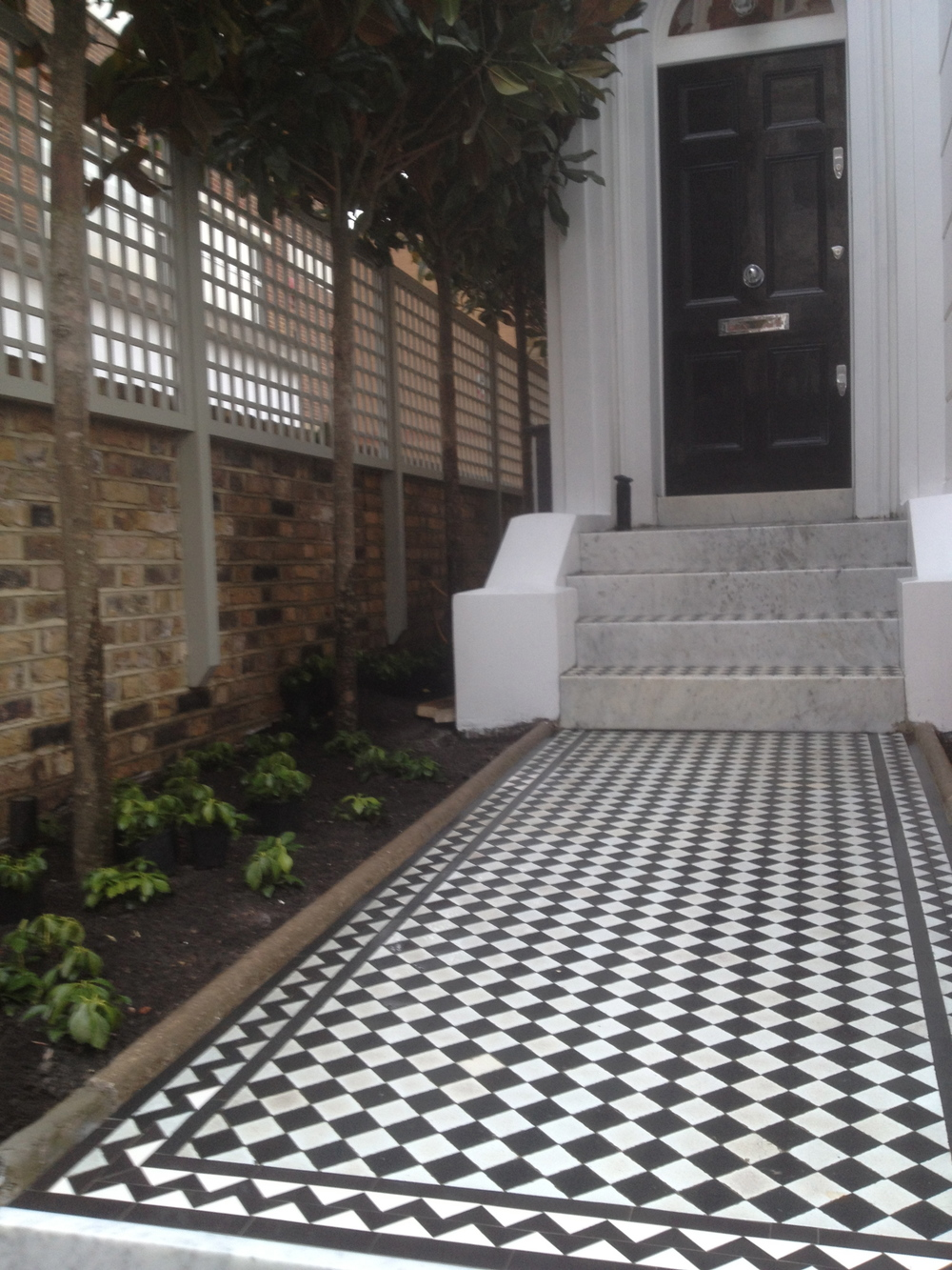 Black White Victorian Path Tiles Mosaics By Post