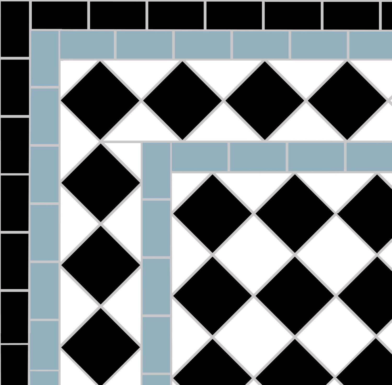 Black & White 5cm Mosaic Pathway in Battersea, London, SW11 ...