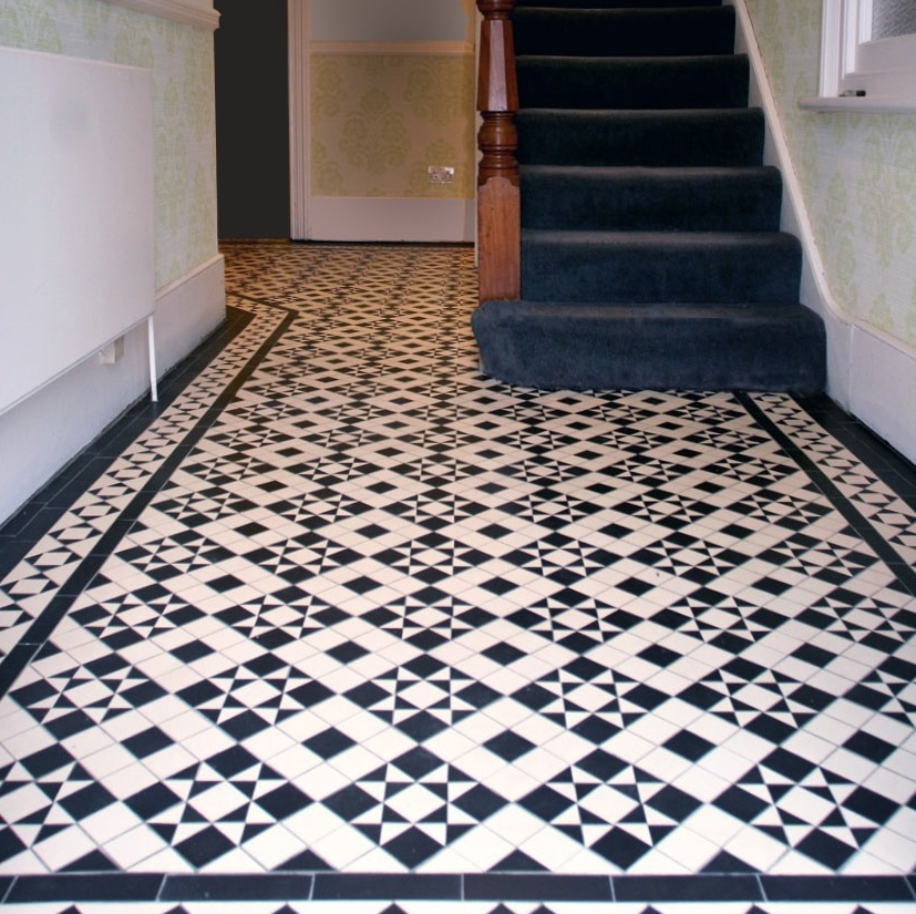 Mosaic Hallway In Hazlewell Road Putney London Sw15 Mosaics By Post