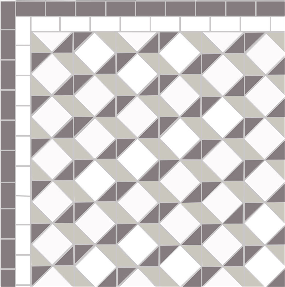 Stunning three d escher design for a victorian tiled floor victorian floor tiles dailygadgetfo Gallery