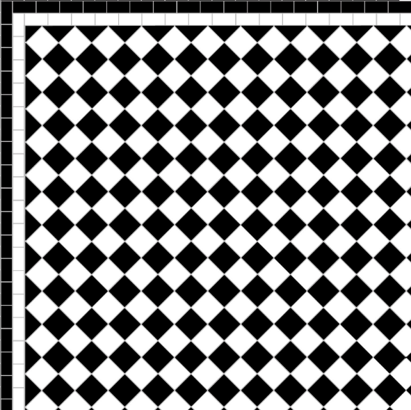 Chequer - Two Line Border