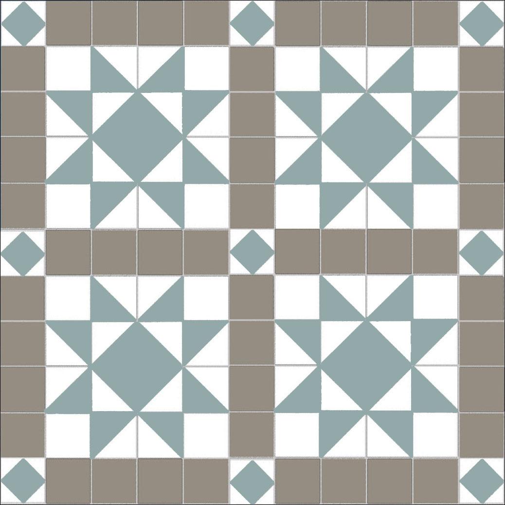 St Michael\'s Mount - Pale Grey - Pale Blue - White — Mosaics By Post