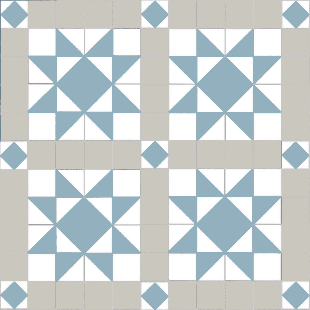 St Michael\'s Mount - pearl- blue - white — Mosaics By Post