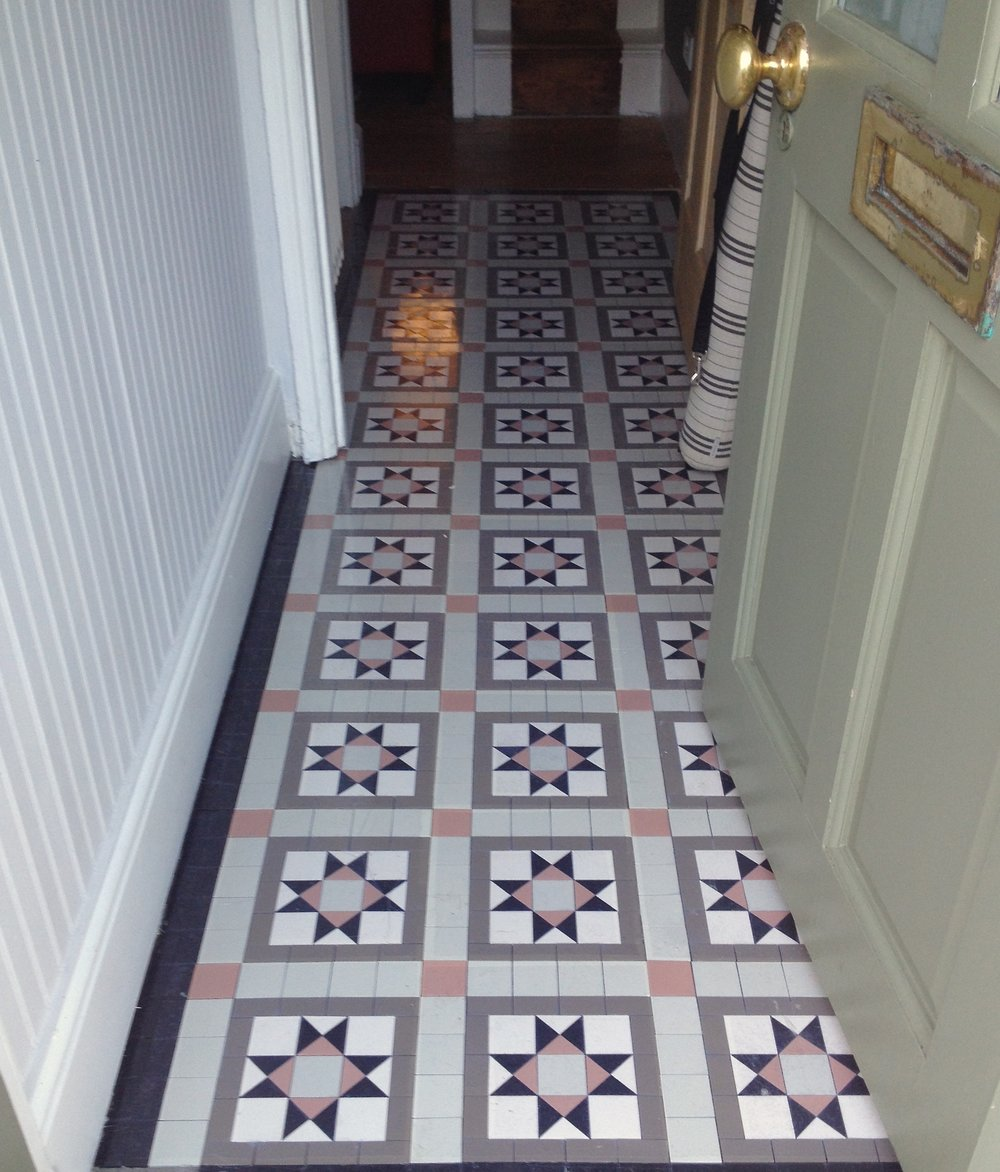Fitting a victorian style sheeted mosaic floor mosaics by post victorian style tiled floor using roseland design dailygadgetfo Image collections
