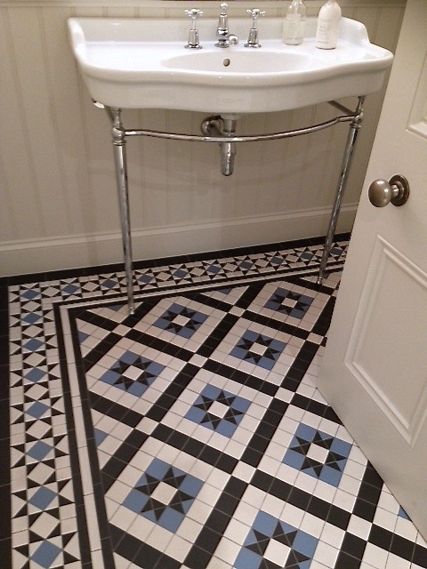 Bathroom Tiles Victorian Style blue & white victorian style mosaic floor — mosaicspost