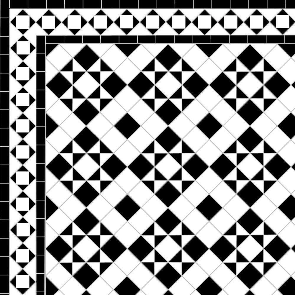 Box & Star - Alma Border - white