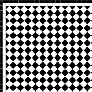 BLACK & WHITEMOSAIC DESIGNS -