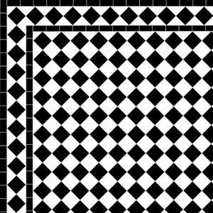 - Chequer- £108/m2 Diamond Border - £49/Lin. m