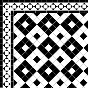 Alternating Boxes - Alma Border -White