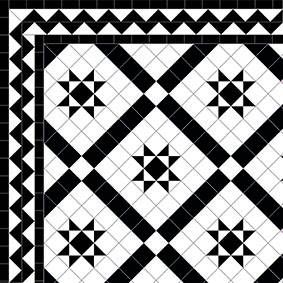 Castle Gayer - Zig Zag Border - Black