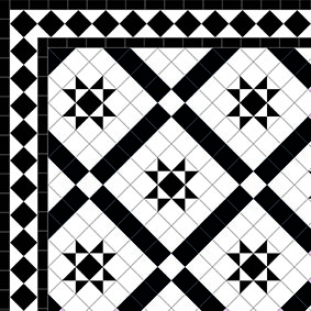 Castle Gayer - Diamond Border - Black