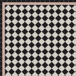 Chequer with Two Line Border in Black, Pearl & Old Pink