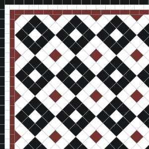 Alternating Boxes - £125 3 Line Border - £36/Lin. m.  Red, White, Black