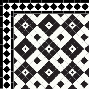 Lyme Regis-£155 2 Line Diamond Border - £49/Lin.m  Black & White