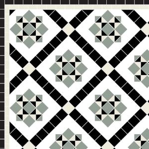 Thornton - £195   2 Line Border - £24/Linear m.  Green, Old White, Black & White