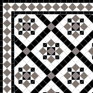 Thornton-£195  2 Line Diamond Border - £24/Lin.m.  Anthracite, Grey,Black & White