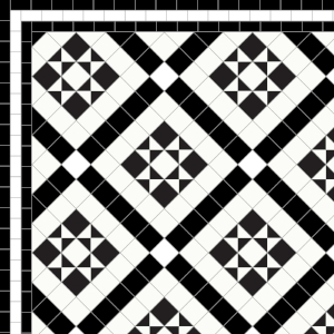 Marazion - £170  3 Line Border - £36/Linear m.  Black & White