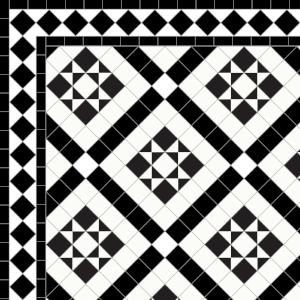Marazion-£170  2 Line Diamond Border -£49/Lin. m.  Black & White