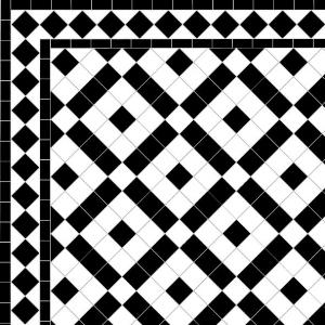 Banded Boxes - Diamond Border - Black
