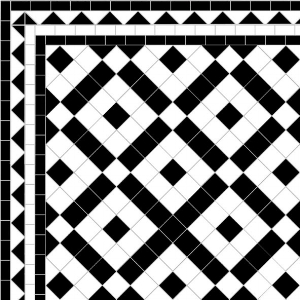Banded Boxes - Dog's Tooth Border