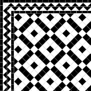 Banded Boxes - ZigZag Border - Black