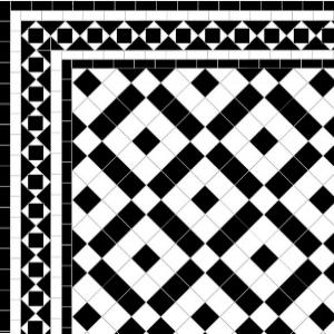 Banded Boxes - Alma Border - Black