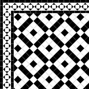 Banded Boxes - Alma Border - White