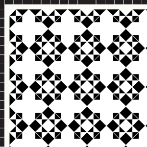 Star & Cross - £235 2 Line Border - 28/Linear m.  Black & White