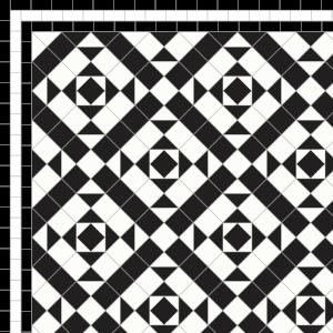 Clarendon - £180 3 Line Border - £38/Linear m.  Black & White