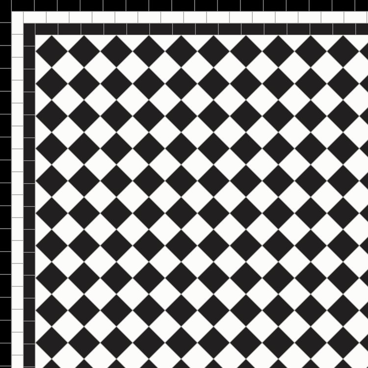Chequer With Border Designs Mosaics By Post