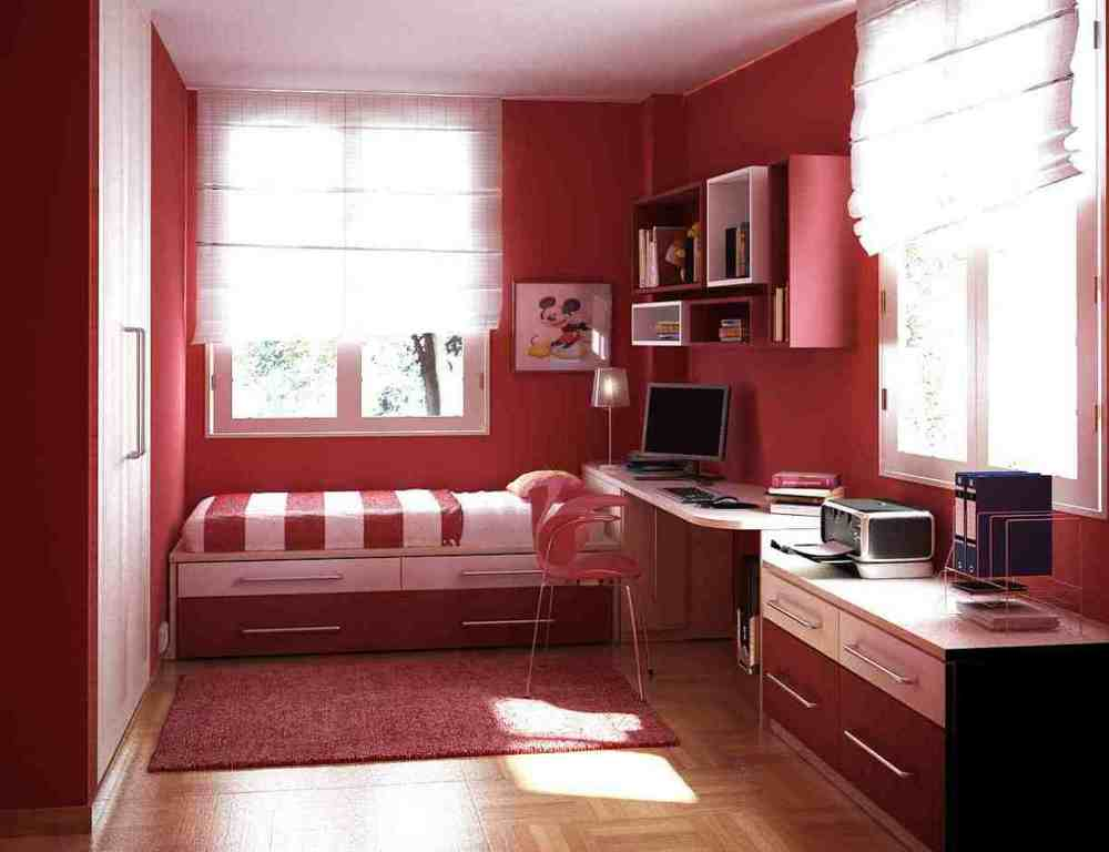 Bedroom with color