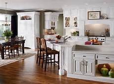 Kitchen open into living space