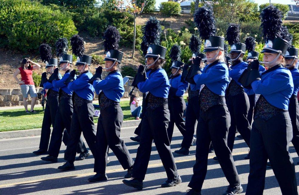 MB homecoming parade 2016.flutes.jpg