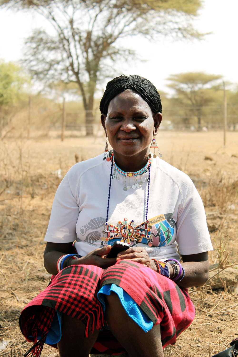 Namawe Sompol is a mother of two who works as a clinical health worker in the village of Illtalal near Kenya's Chyulu Hills. She has noticed a decline in fresh water available to her Maasai community in recent years. (© Conservation International/photo by Christina Ender)