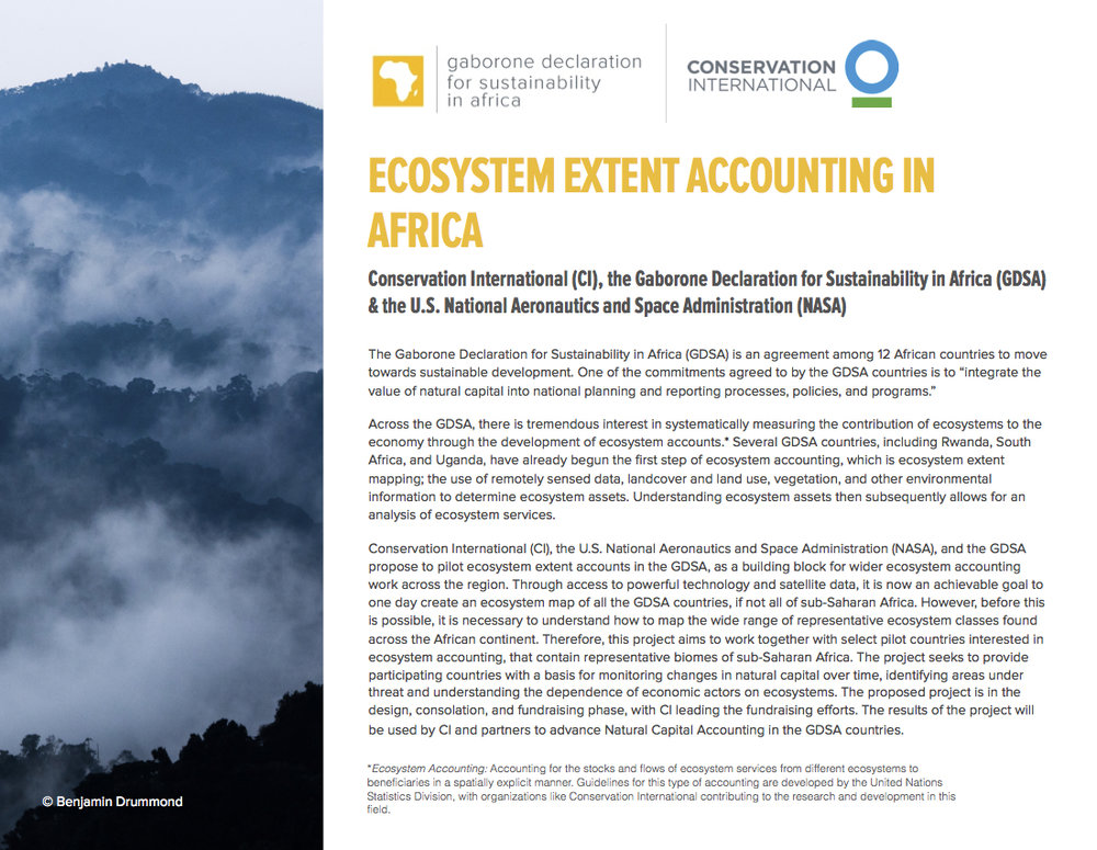 Pilot project on ecosystem mapping and accounting in the GDSA