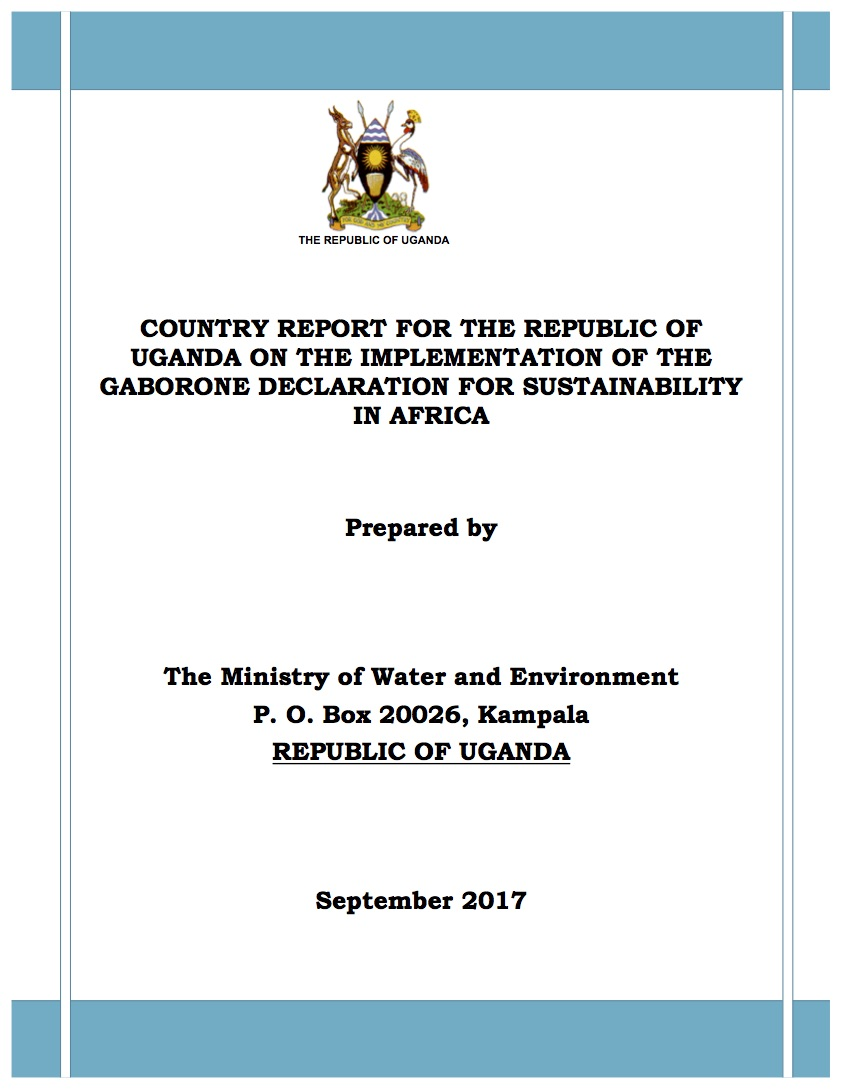 The national report on the implementation of the GDSA in Uganda can be downloaded HERE.