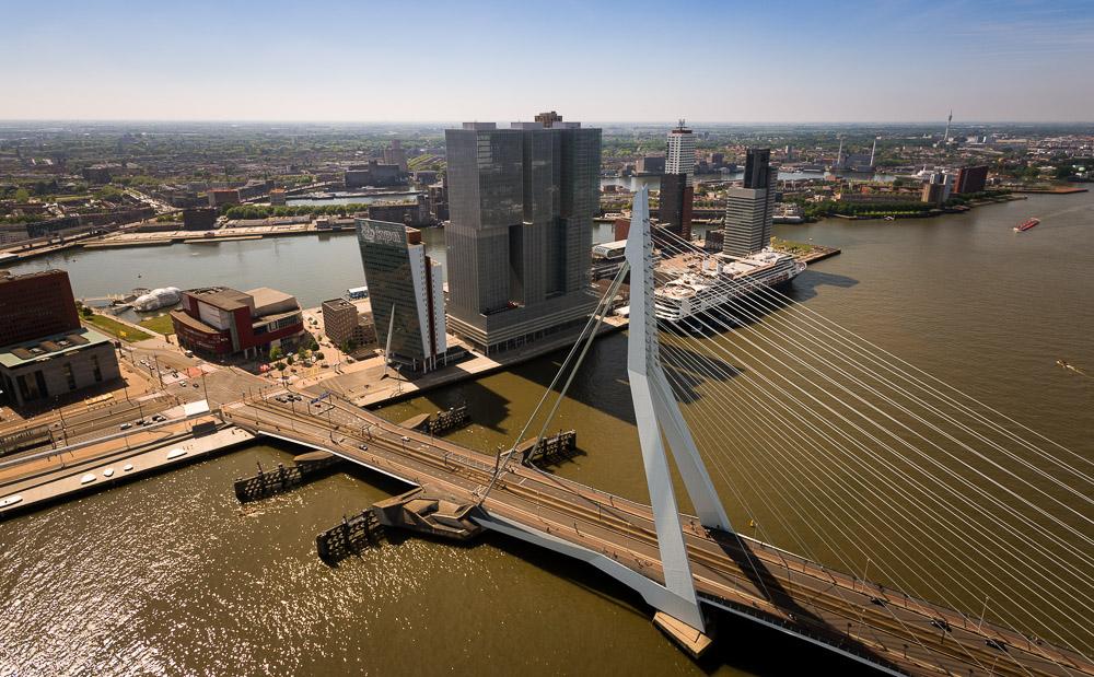 Architectuurfotografie Erasmusbrug Rotterdam