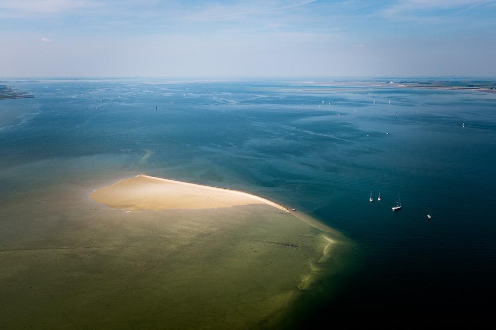Zandbank bij yerseke Zeeland