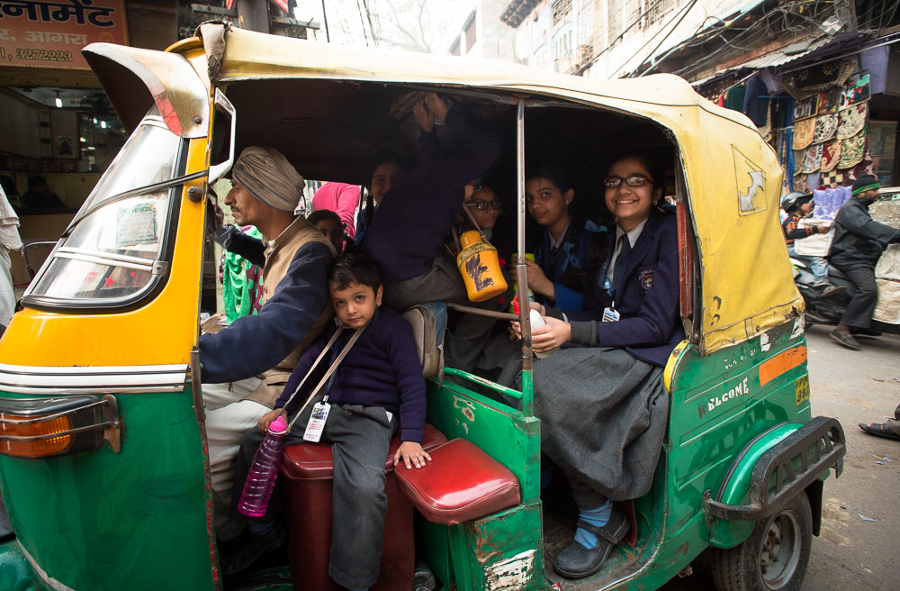 Reisfotografie riksja India
