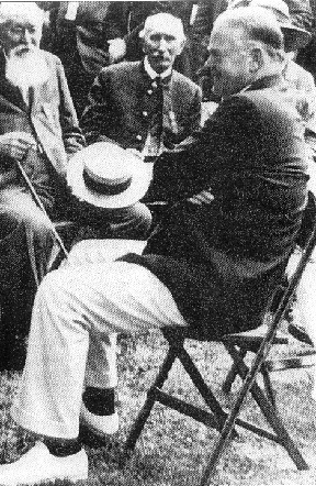 Pres. Hoover relaxing on a Clarin chair