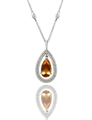 Glastonbury jewelers cts top rated jewelry store for diamond imperial topaz pear shape and floating diamond halo pendant aloadofball Image collections