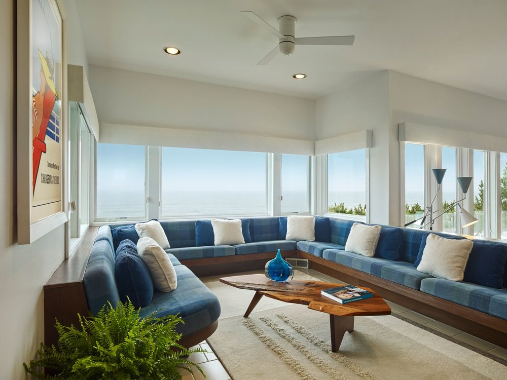 BEACH HOUSE REMIX. Long Beach Island, NJ. Interior Design Update Featuring  An Influential Collection Of Furniture By George Nakashima.