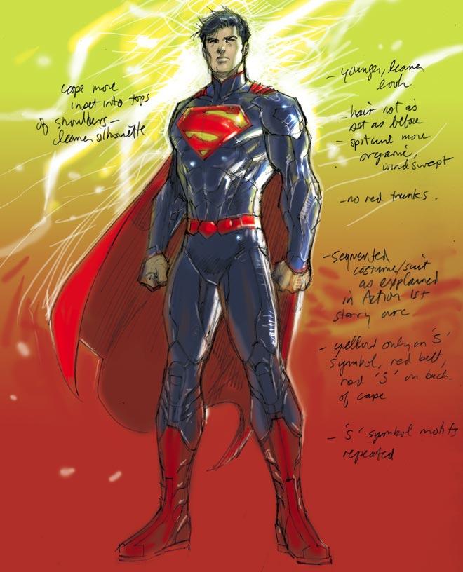 Superman (New 52), por Jim Lee