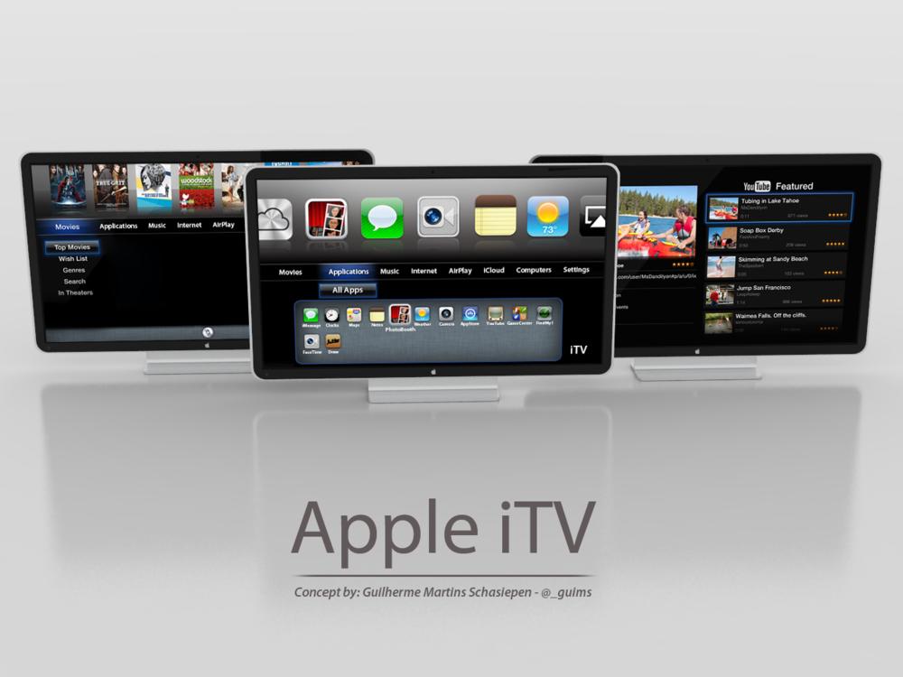 Conceito de uma Apple TV imaginada por Guilherme Schasiepen