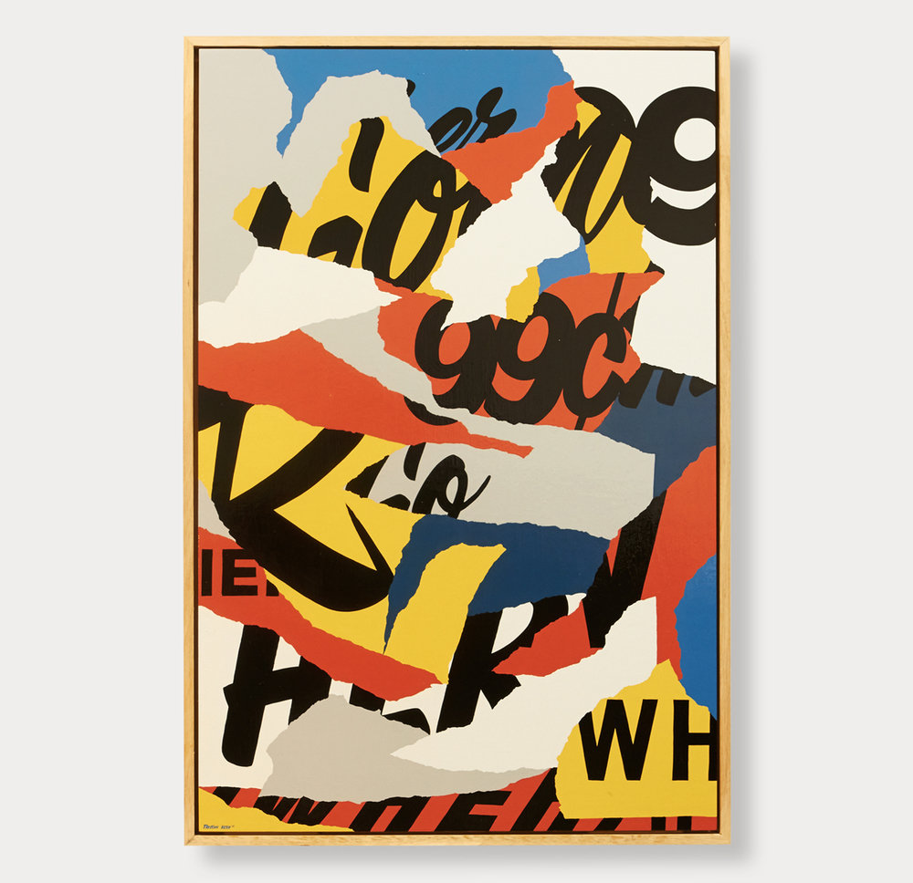 'Going Nowhere' Enamel on Timber Panel, framed, 65 x 95 cm, for Art Images Gallery SALA show 2015